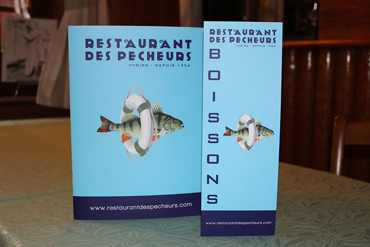 Carte/menus - Restaurant des pêcheurs